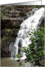 Thank You For Your Friendship Hawaii Waterfall Photography card