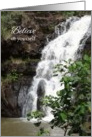 Believe In Yourself Encouragement Hawaii Waterfall Photography card