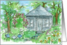 New Home Congratulations House Watercolor Landscape Painting card