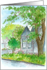 Congratulations On Your New Home Victorian House Watercolor card
