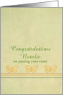 Congratulations Passing Your Test Custom Name Yellow Butterflies card