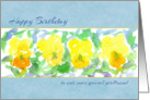 Happy Birthday Son's Girlfriend Yellow Pansies Watercolor card