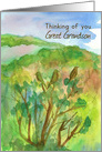Thinking of You Great Grandson Barn Sweet Peas Meadow Mountains card