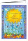 Summer Solstice Midsummer's Eve Party Invitation Sun Moon Stars card