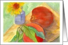 Happy Birthday Peaches Fruit Daisy Flower Watercolor Painting card