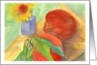 Encouragement Faith Peaches Daisy Flower Watercolor Painting card