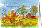 Happy Thanksgiving Sweet Birth Daughter Turkey Red Barn card