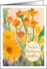 Thanksgiving Wedding Congratulations Sunflowers Painting card