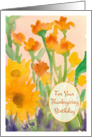 For Your Thanksgiving Birthday Sunflowers Watercolor Painting card
