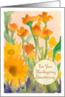 For Your Thanksgiving Anniversary Sunflowers Watercolor Painting card