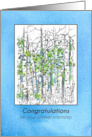 Congratulations Summer Internship Colorful Wildflowers Watercolor card