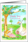 Baby Shower Gift Thank You Mother Goose Theme Watercolor card