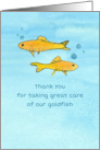 Pet Sitter Thank You Goldfish Watercolor card