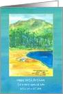 Happy 35th Birthday Kayak Mountain Lake Custom Name card