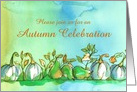 Autumn Season Party Invitation Ghost Pumpkins Pears Custom card
