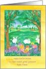 Happy Easter Great Grandson Rabbits Custom Name card