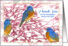 Thank You For The Anniversary Gift Bluebirds Watercolor card