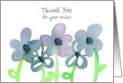 Thank You For Your Purchase Gray Flowers Custom card