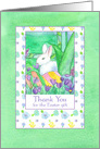 Thank You For The Easter Gift White Rabbit card