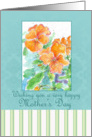 Happy Mother's Day Orange Watercolor Pansy Painting card