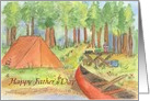 Camping Trip Father's Day Watercolor Outdoors Landscape Art card