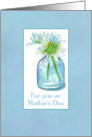 For You On Mother's Day White Watercolor Shasta Daisy Bouquet card