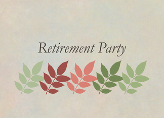 Retirement Party Invitation Autumn Leaves Business Card Greeting Card