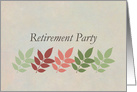 Retirement Party Invitation Autumn Leaves Business Card