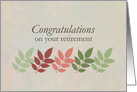 Congratulations on your Retirement Autumn Leaves card