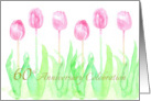 60th Wedding Anniversary Invitation Pink Tulips Watercolor Flowers card