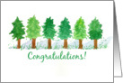 Employee of the Month Congratulations Row of Trees card