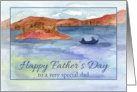 Happy Birthday Father's Day Mountain Lake Fishing card