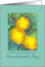 Happy Grandparents Day Lemons Fruit Watercolor Painting card