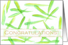 Business Congratulations Green Leaves Watercolor card