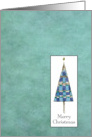 Merry Christmas Blue Christmas Tree card