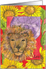 Happy Birthday Leo Zodiac Sign Astrology Watercolor Art card