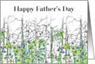 Happy Father's Day Aspen Trees Illustration card
