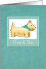 Thank You Wheaten Scottie Dog Watercolor Illustration card