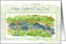 Happy Father's Day Dad Dry Creek Bed Rocks Watercolor Art card