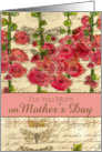 Happy Mothers Day Mom Hollyhock Flower Collage card