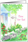 Tea Shop Party Invitation Time for Tea Garden card