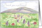 Meadow Thank You card Purple Lupines Wildflower Mountain card