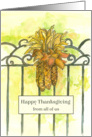 Happy Thanksgiving From All Of Us Ornamental Corn Bouquet card