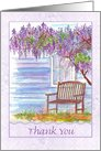 Thank You Wisteria Flower Tree card