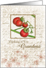 Thinking of You Grandma Cherry Tomatoes Sepia card