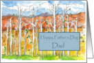 Happy Father's Day Dad Aspen Trees Desert Landscape card