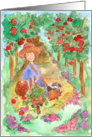 Autumn Thinking of You Apple Orchard Harvest Puppy Dog card