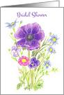 Anemone Bouquet Bridal Shower Party Invitation Flower Bouquet card