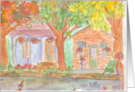New Home Watercolor Painting card