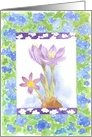 Purple Crocus Thinking of You card